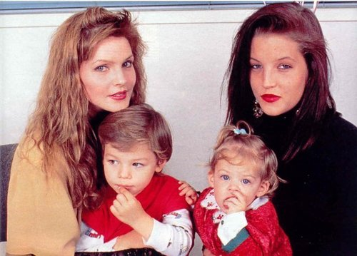 lisa marie presley wallpaper possibly with a neonate and a portrait entitled Lisa Marie, and her children.