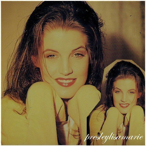 Lisa Marie Presley fond d'écran with a portrait entitled Lisa