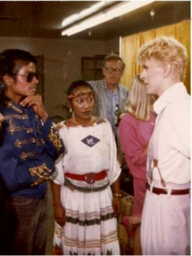 MJ and David Bowie