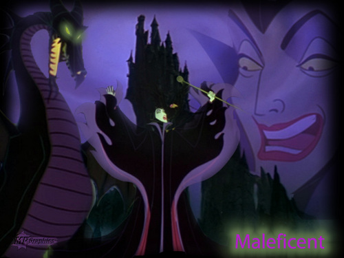 Sleeping Beauty kertas dinding titled Maleficent
