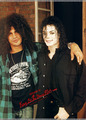 Mike and Slash <3 <3 - michael-jackson photo