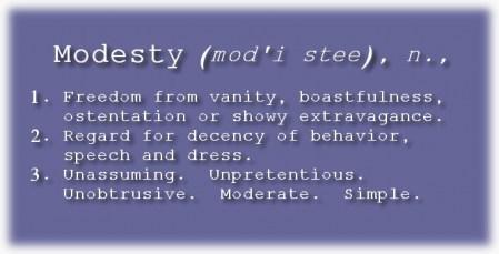 Modesty Definition