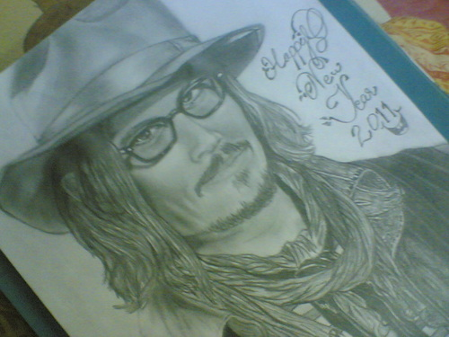My New jaar Sketch of Johnny Depp