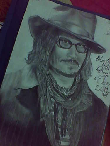 My New Year Sketch of Johnny Depp