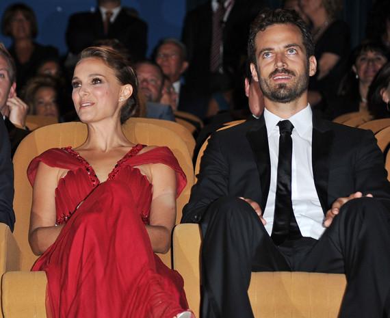Natalie & her fiancee Benjamin Millepied