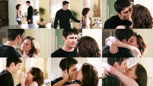 One Tree Hill wallpaper possibly containing a portrait entitled Nathan & Haley <3