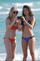 New/Old تصاویر of Candice and Nina at South Beach, Miami (HQ)