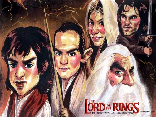Lord of the Rings karatasi la kupamba ukuta containing anime entitled Once upon a time..