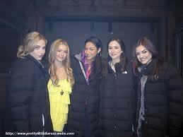 Pretty Little Liars TV Show wallpaper probably with a well dressed person, a workwear, and an outerwear entitled PLL