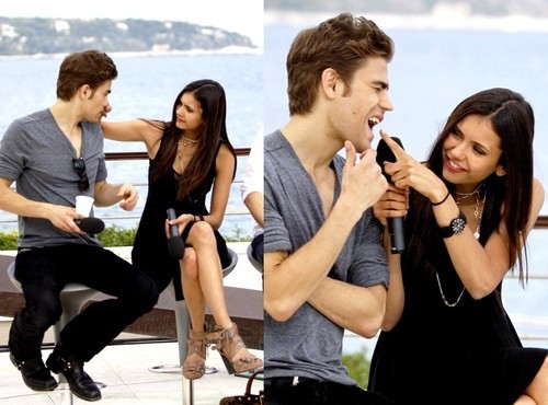 Paul Wesley and Nina Dobrev پیپر وال entitled Paul & Nina