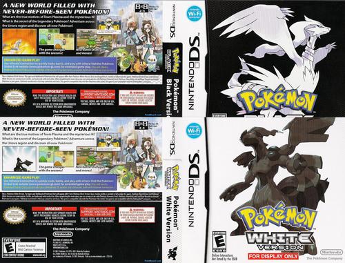 Pokemon Black and White English Box Art