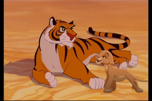 disney crossover achtergrond entitled Rajah and Kiara