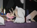 Sasuke kiss with Sakura - sasusaku fan art