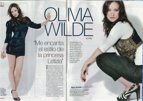 Scan of Olivia Wilde's Feature in the October 2009 Issue of Diez Minutos