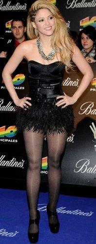 Shakira revealed legs