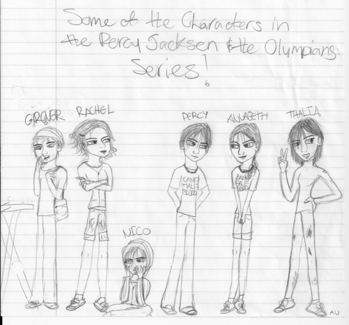 Some of the Characters in the Percy Jackson & the Olympains series!