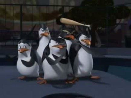 The Penguin's fighting stance, and yes that includes Buck with a bat
