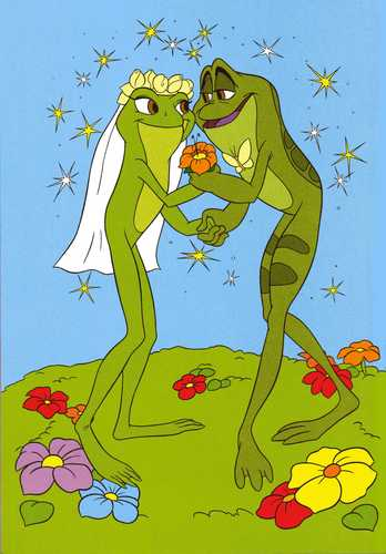Tiana & Naveen as frogs' wedding