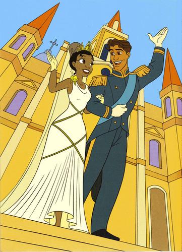 Tiana & Naveen's human wedding