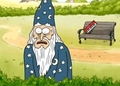 Wizard Taking a Piss - regular-show screencap