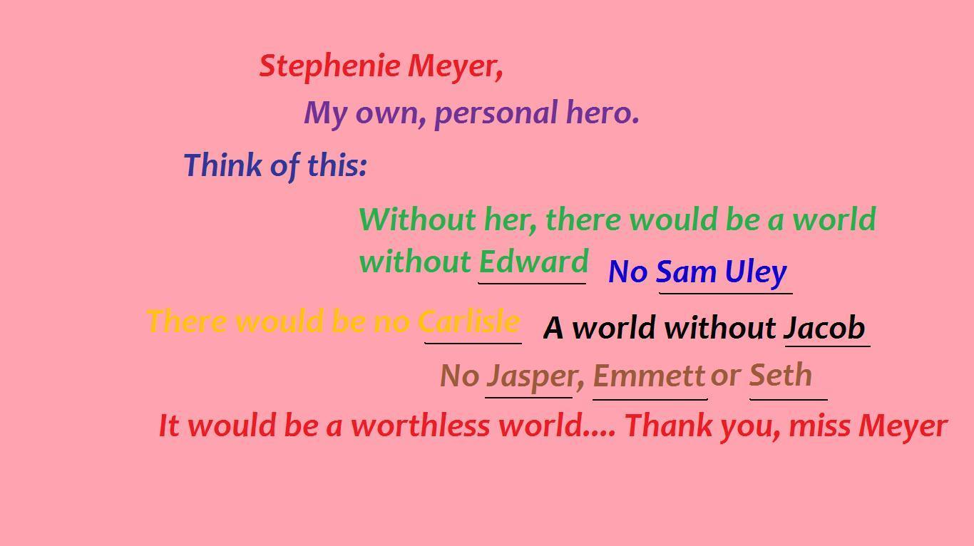 """is stephenie meyer writing another twilight book Start by marking """"the seeker (the host but really stephenie meyer me when i found out that there's going to be another twilight book instead of writing."""