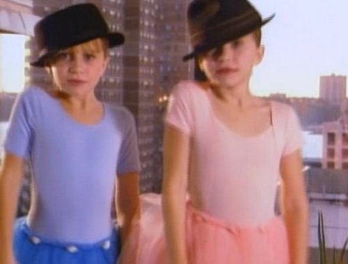 Mary-Kate & Ashley Olsen wallpaper possibly with a top, a sundress, and a playsuit called You're Invited To Mary-Kate And Ashley's Ballet Party
