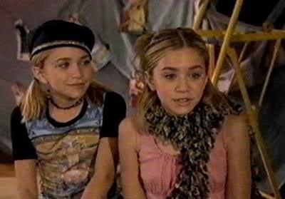 Mary-Kate & Ashley Olsen wallpaper probably containing a green baret titled You're Invited To Mary-Kate And Ashley's Fashion Party