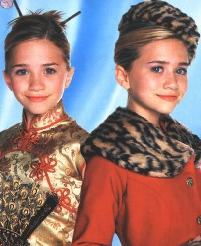 Mary-Kate & Ashley Olsen karatasi la kupamba ukuta probably containing a portrait titled You're Invited To Mary-Kate And Ashley's Fashion Party