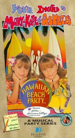 The Olsen Twins wallpaper containing anime titled You're Invited to Mary-Kate and Ashley's Hawaiian Beach Party