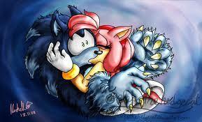 amy rose kiss sonic the werehog