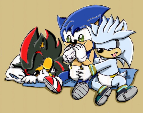 baby sonic, shadow, and silver