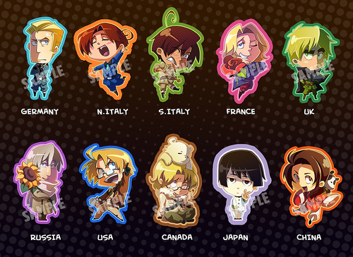 hetalia - axis powers chibis