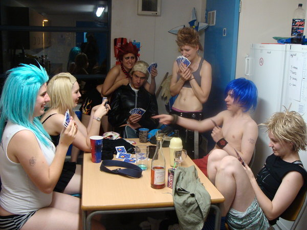 Women losing at strip poker