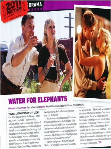 """Water For Elephants"" in ''Empire'' Australian Magazine"