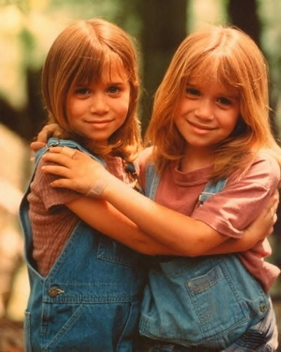 Mary-Kate & Ashley Olsen wallpaper containing a portrait called 1995 - It Takes Two