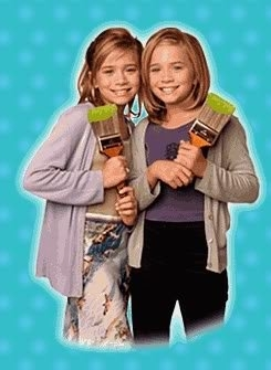Mary-Kate & Ashley Olsen wallpaper containing a well dressed person, an outerwear, and a box coat titled 1998 - Billboard Dad