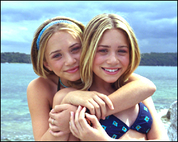 Mary-Kate & Ashley Olsen wallpaper possibly containing a portrait called 2000 - Our Lips Are Sealed