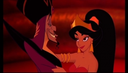 Princess jimmy, hunitumia karatasi la kupamba ukuta possibly containing anime entitled Aladdin-Jafar in Power