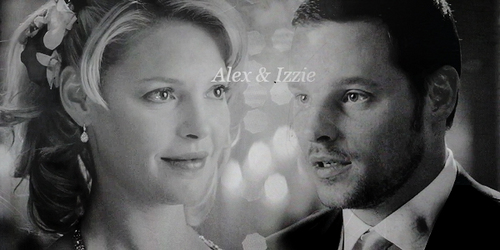 Alex and Izzie Hintergrund probably with a business suit entitled Alex-Izzie