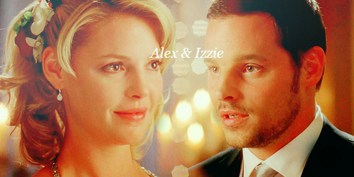 Alex and Izzie wallpaper containing a business suit titled Alex-Izzie