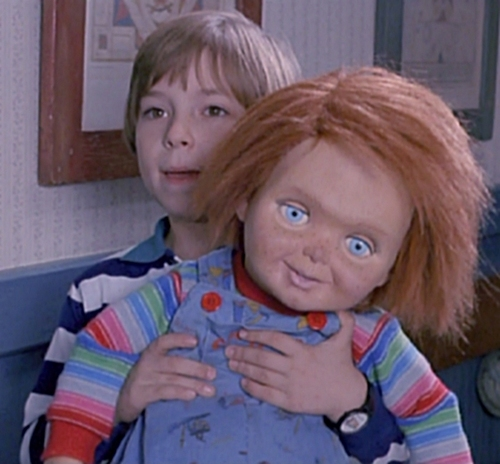 Andy Barclay achtergrond titled Andy & Chucky