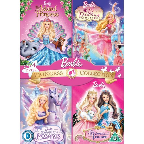 芭比娃娃 Princess and Fairytopia DVD Sets (4 电影院 each)