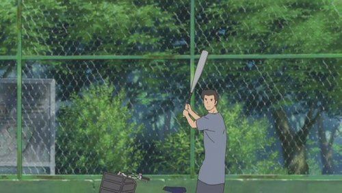 The Girl Who Leapt Through Time-Movie fond d'écran probably containing a tennis pro, a tennis player, and a tennis racket titled Baseball