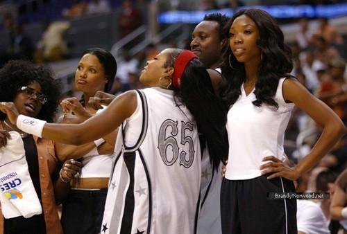 brandy @ A Midsummer Night's Dream Celebrity basketball Game