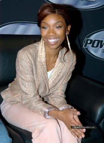 brandy Hosts Power Radio Live on Power 105.1 at Planet Hollywood 2004