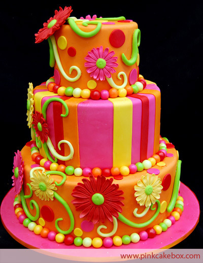 Red Colour Cake Images : Brightly Colored Cake - Bright Colors Photo (18123278 ...