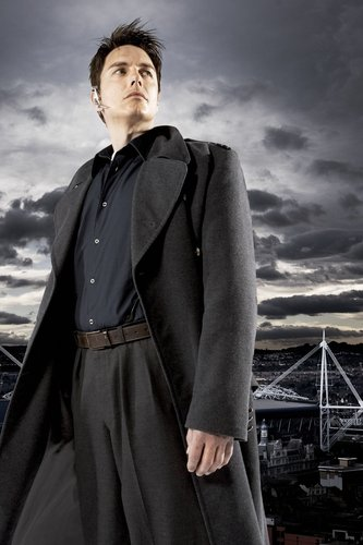 Torchwood wallpaper possibly containing an overgarment, a box coat, and a surcoat titled Captain Jack Harkness