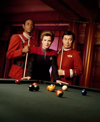 Captain Janeway and Captain Sulu