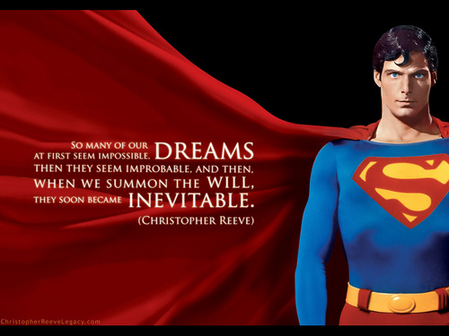 Superman (The Movie) wallpaper probably containing a leisure wear titled Christopher Reeve Superman Wallpaper