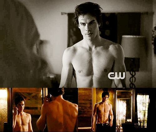 Damon has his hottest moments